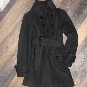 Cute Grey and Black Peacoat Dress coat